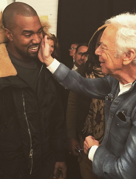 Ralph Lauren Caresses Kanye West, and We've Got the Pic