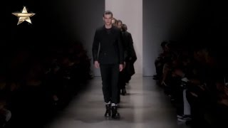 Calvin Klein Collection in Milan Gives Us a Refined Athletic Look in Shades of Grey