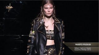 Punk Attitude, British Royalty and Early 90s Glamour Mix at Fausto Puglisi's Milan Show for AW15