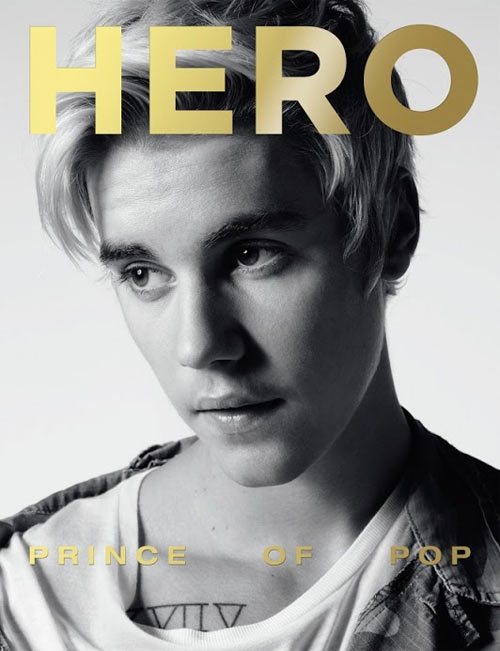 Justin Bieber Dreamy on the Cover of Hero Magazine