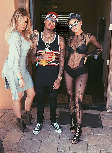 Kylie Jenner Dons Sheer Catsuit for Coachella