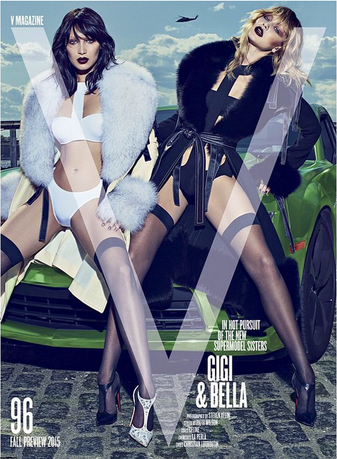 Sisters Bella and Gigi Hadid Get Sexy on the Cover of V Magazine