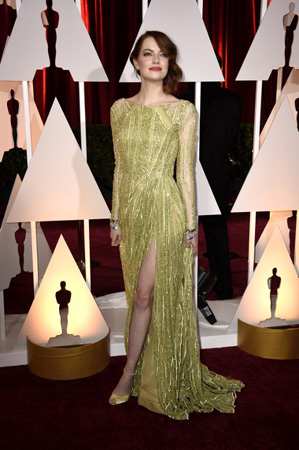 Emma Stone Flashes Her Smile and Her Underwear at the Oscars