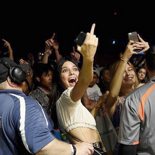 Kendall Jenner Flips Off Tyler the Creator at Coachella, See the Pics